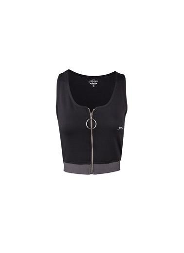 Slazenger Pro Fit Kadın Kısa Kol Tişört Siyah